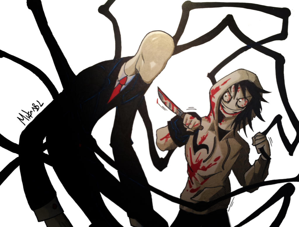 jeff the killer vs slenderman anime universe ʖ