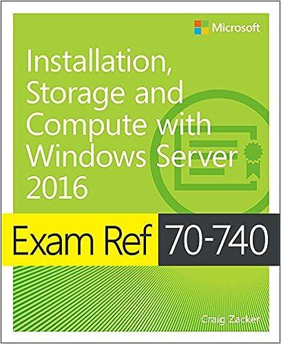 NON-CONTROLLING) Exam Ref 70-740 Installation, Storage and Compute