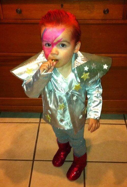 My homemade Baby Ziggy Stardust Halloween costume!   Hip ...