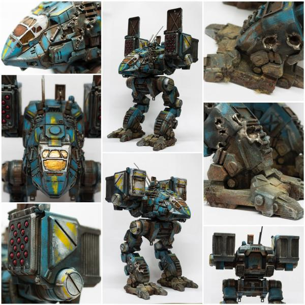 3D printed and painted MechWarrior 3D create