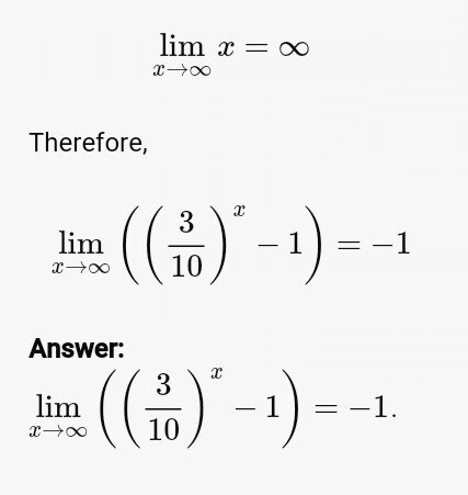 Limit Calculator with Steps • Math Calculator