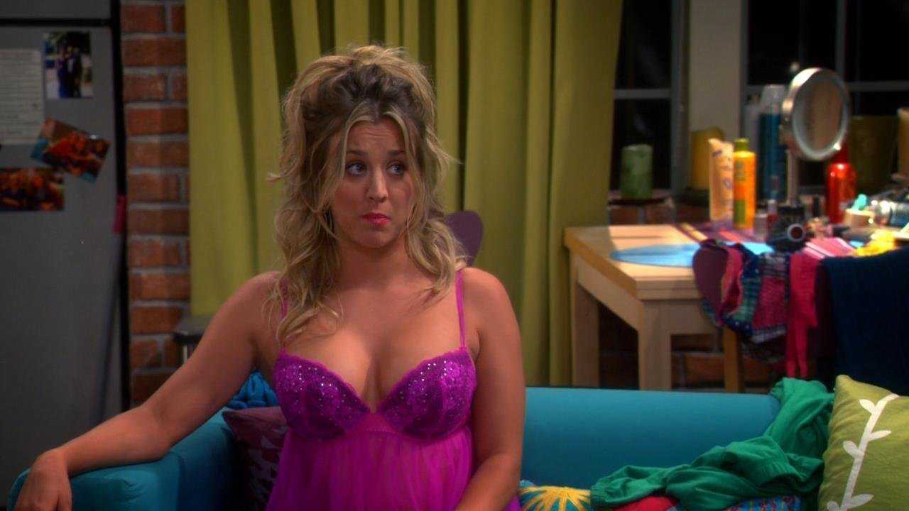 Casual concurrence kaley cuoco big bang theory bra